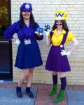 Wario and Waluigi 2015 by sleepyotter