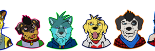 Everyone lowkey hates everyone else in this pic by Randomthewolfskie