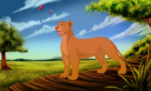 Nala and the butterflies by Mirri