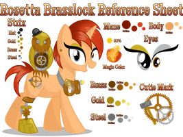 Rosetta Brasslock Reference Sheet by equinepalette