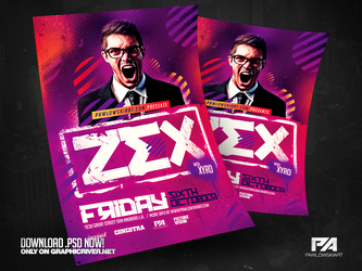 Club DJ Flyer PSD Template by pawlowskiart