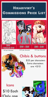 Comissions Price List by hikariviny