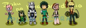 Boku no hero academia chibis by NellyPixit