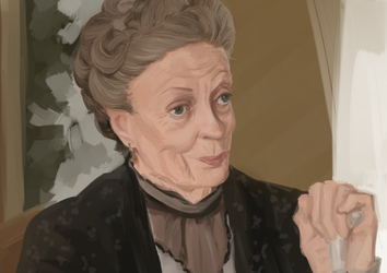 our lady and saviour maggie smith by Ikolit