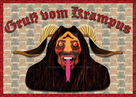 Krampus Card Front by kwhammes