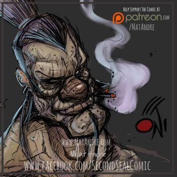 Second Seal Comic New Oni Style by MatAndre