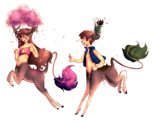 I wanted to draw them jumping by JinnyMoose