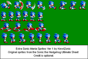 Extra Sonic Mania Sprites Ver. 1 by KewlZonicArts