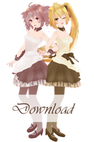 TDA Teto and Neru - Caramel of card DOWNLOAD [MMD] by Yuu2002