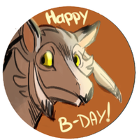 Daily Doodle: Happy Bday Teadino! by CountDraggula