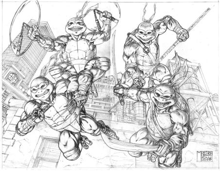 Ninjaturtles Pencil by AntonioMastria