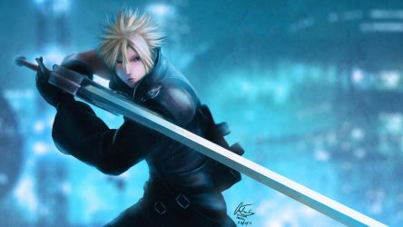 Final Fantasy VII - Cloud's Stance by vincyWP