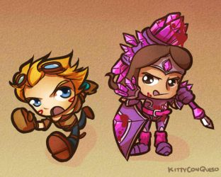 Chibi Bot Lane by KittyConQueso