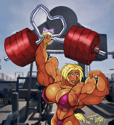 Sheeri at Muscle Beach by Lonzo1