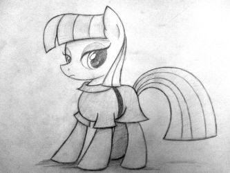 Its Maud (sketch) by HeavyMetalBronyYeah
