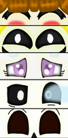 Undertale Character Eyeshots by HerrenLovesFNAF