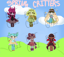 Spring Critters Mixed Collab Adopts - 0/6 CLOSED by chiliechii