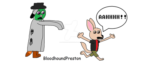 Finnick Running from a Zombie TPT by BloodhoundPreston