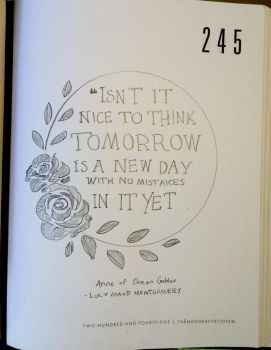 'Tomorrow is a new day' #Art journaling.  by Ladybug-17