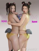 Xoxo and Ayane for G8 by elianeck