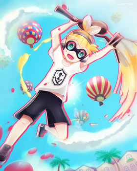 (COMMISSION) Splatoon-Grey by Pokkiu