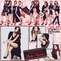 Pack PNG Nine Muses by GAJMEditions