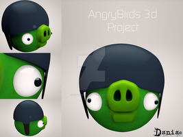 AngryBirds 3d Project The soldier by daniacdesign
