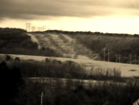 Powerlines and Hillsides. by phi-phi