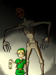 Link and Redead sketch by Kitsune-of-Awesome