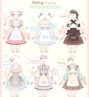 [CLOSED] Dairy Fairy Outfit Adoptable #16 by Black-Quose
