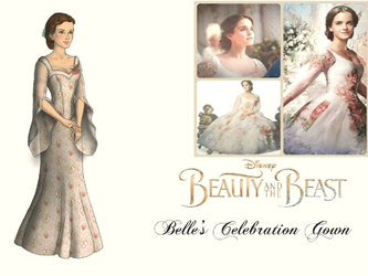 Disney BatB 2017-Belle's Celebration Gown by nickelbackloverxoxox
