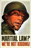 Martial Law? by poasterchild