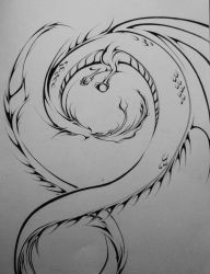 Spiral Dragon by Elliesmeria