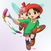 Adeleine and Ribbon by stupjam