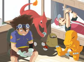 This time together - Pokemon x Digimon by SELT0N