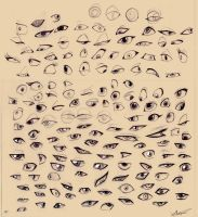 Sketches - Cartoon eyes by Autlaw