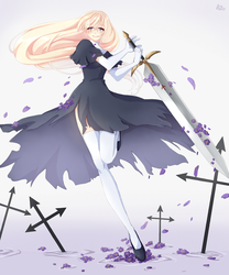 Claymore Galatea (comission) by Neill-Ayane