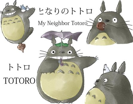 My neighbor Totoro - Totoro- colored by Dacara