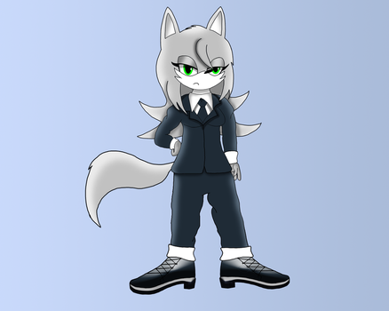 Lucky the Arctic Wolf (Gift) by dwaters220