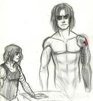 Who's Bucky? - Winter Soldier Sketches by Alexiel-VIII