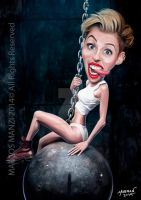 Miley Cyrus caricature by Marmanillustrator