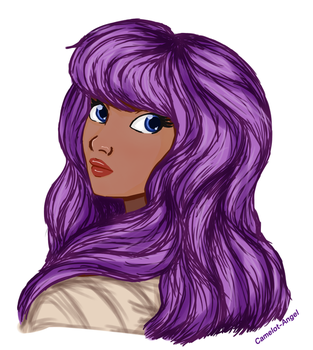 (Request) Purple Hair by Camelot-Angel