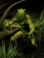 Swamp Monster by ravenscar45