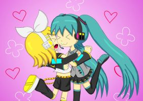 Rin-chan Now - Huggy Huggy X3 by irzhie