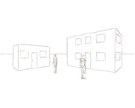 2 point perspective basic practice by Sucao