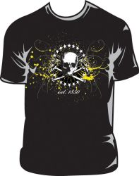 Painted Skull Graphic T by sl8t3r