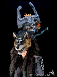 Warrior Wolf Link and Midna by studioofmm