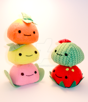 Fruit Family Lil Mochis by rhaelle