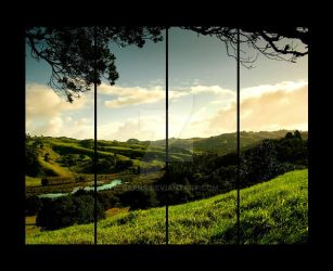 window to the west by barns