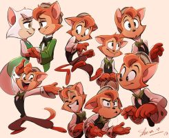 Danny the cat Sketches by Shira-hedgie